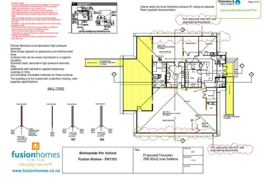 Bishopdale Preschool floor plans