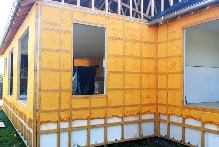 Fusion Homes low energy concept home foam insulation