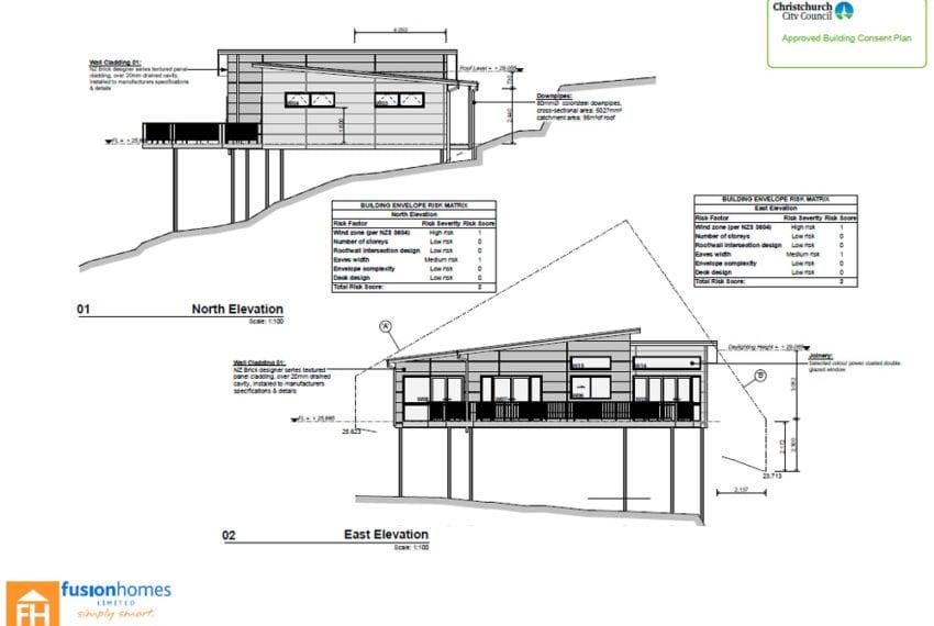 Huntsbury Hill House on piles plan